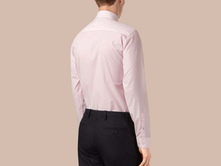City pink Modern Fit Button-down Collar Micro Check Cotton Shirt - cell image 2