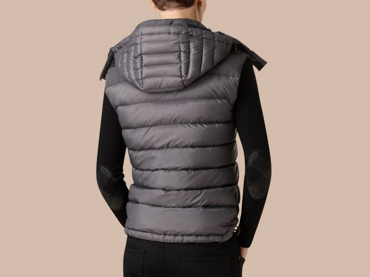 Storm grey Down-filled Gilet with Detachable Hood - cell image 2