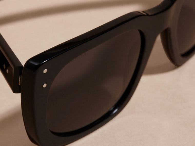 Black Square Frame Sunglasses Black - cell image 1