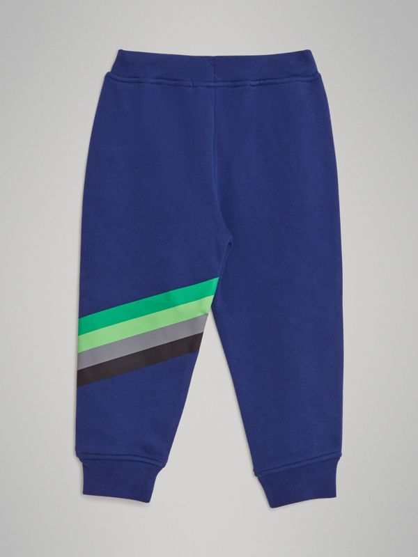 Archive Logo Print Cotton Trackpants in Canvas Blue - Children | Burberry - cell image 3