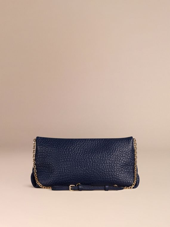 Blue carbon Medium Signature Grain Leather Clutch Bag Blue Carbon - cell image 3