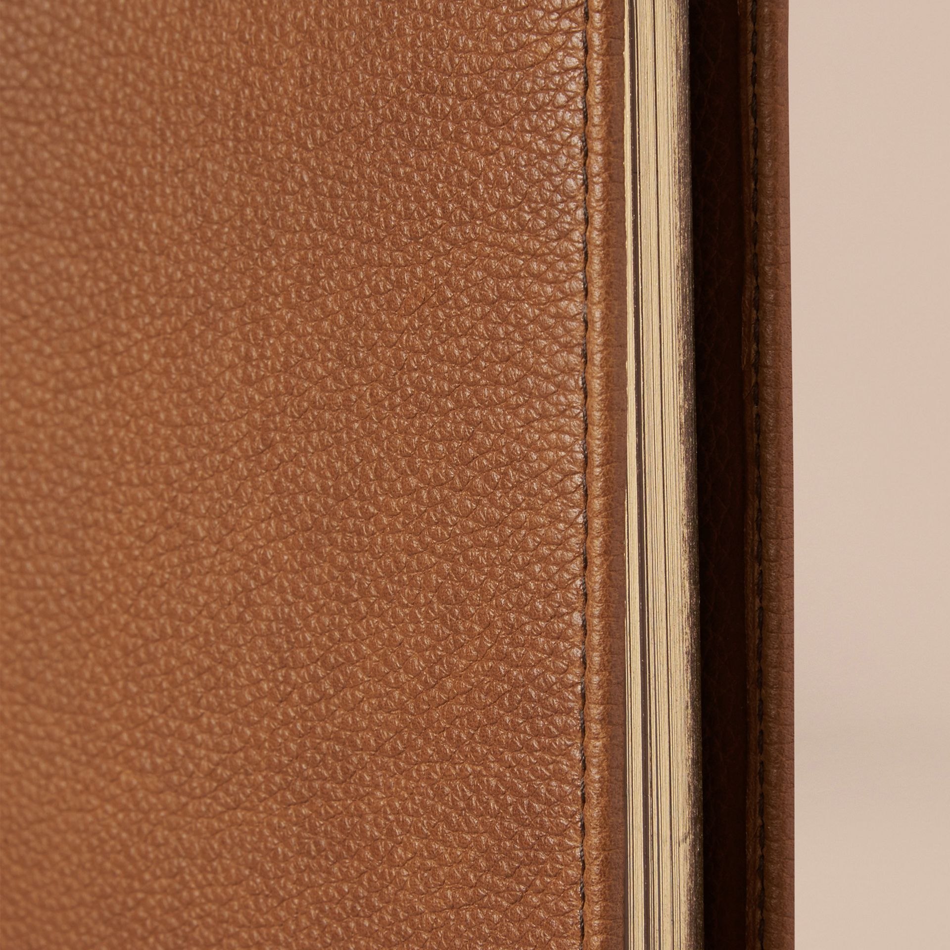 Tan Grainy Leather A4 Notebook Tan - gallery image 2