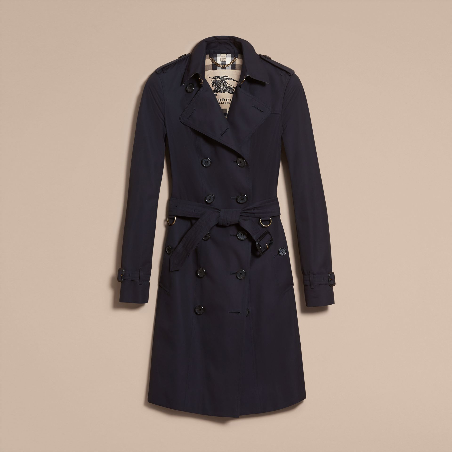 Navy The Sandringham  – Long Heritage Trench Coat Navy - gallery image 4