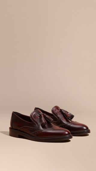 Dégradé Tassel Detail Leather Loafers