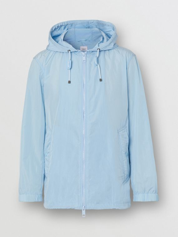 Packaway Lightweight Hooded Jacket in Pale Blue