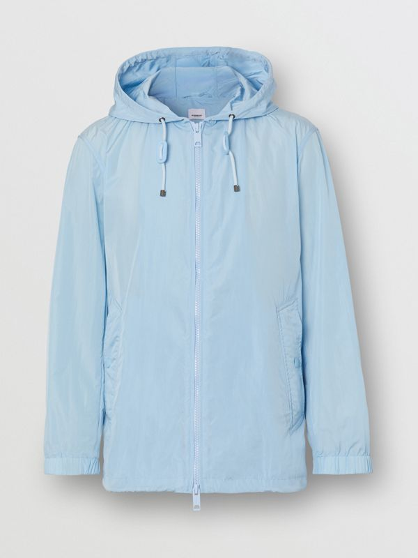 Packaway Lightweight Hooded Jacket in Pale Blue - Men | Burberry Singapore - cell image 3