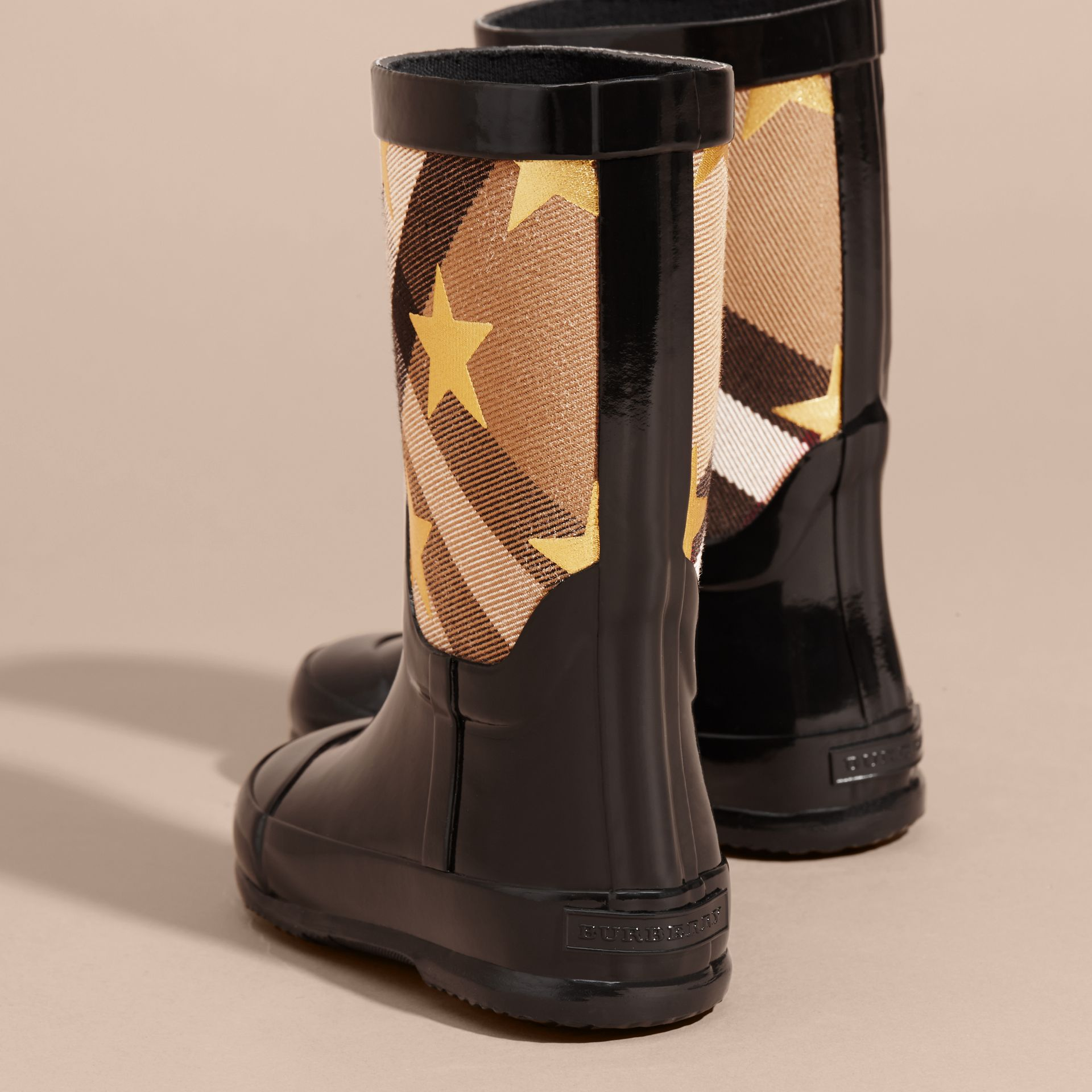 Star Print House Check Rain Boots - gallery image 4