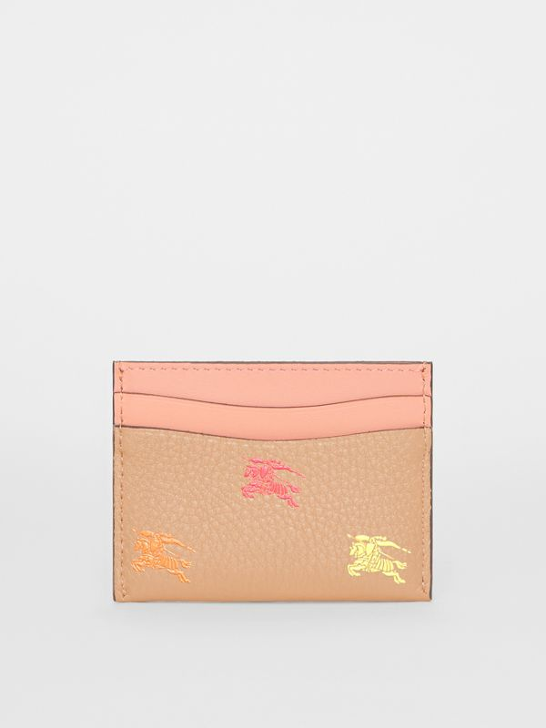 EKD Leather Card Case in Camel - Women | Burberry United States - cell image 3