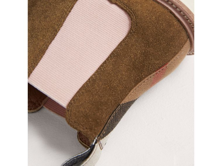 Two-tone Suede Chelsea Boots in Sandstone - Girl | Burberry Singapore - cell image 1