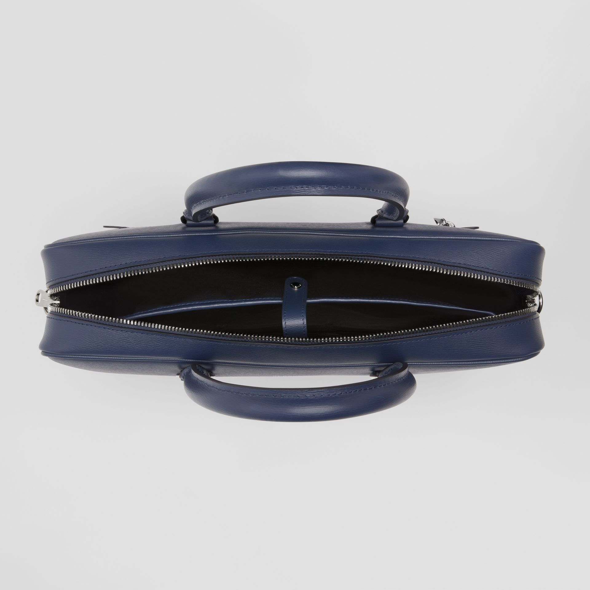 London Leather Briefcase in Navy - Men | Burberry - gallery image 5