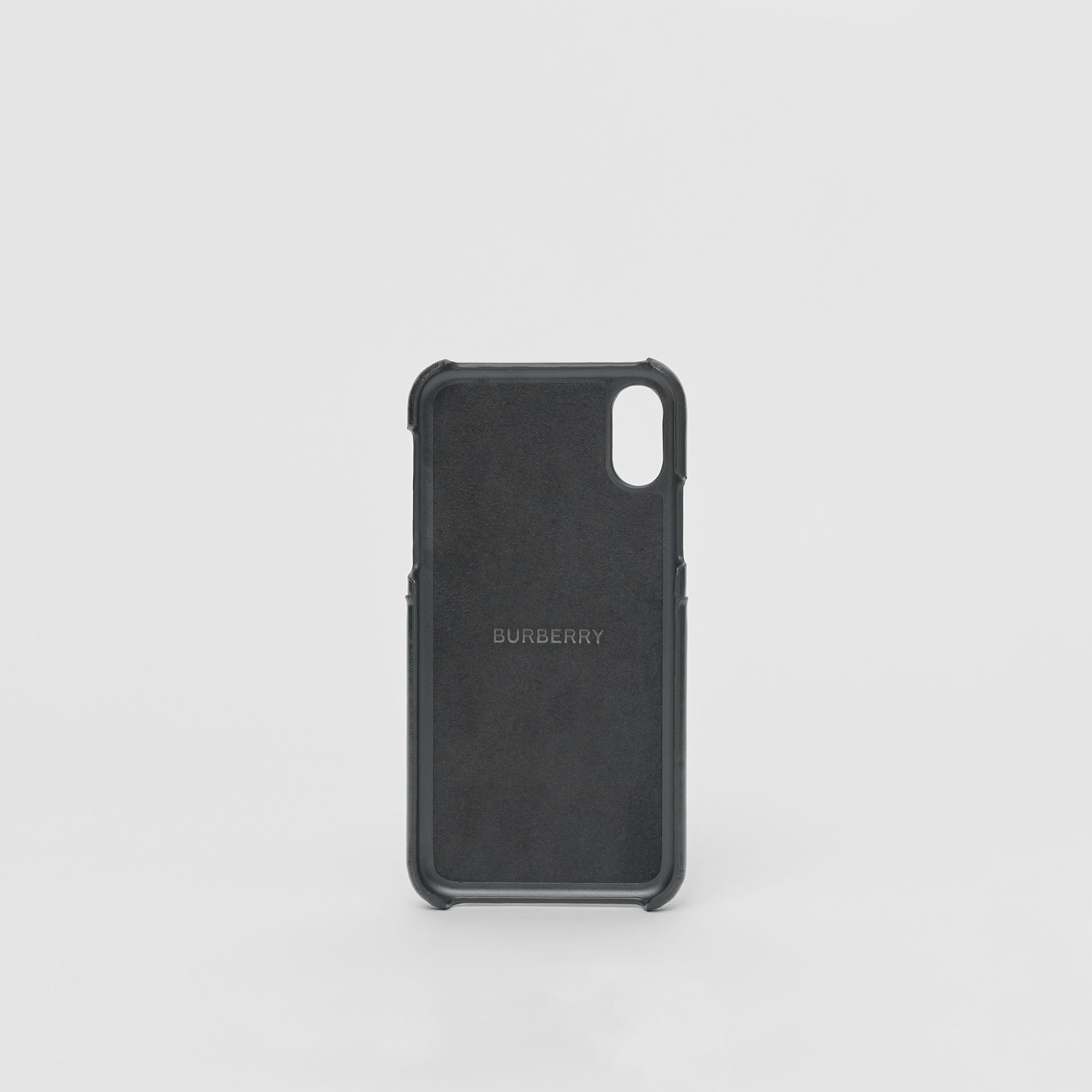 Logo Graphic Canvas iPhone X/XS Case in Black | Burberry - gallery image 3