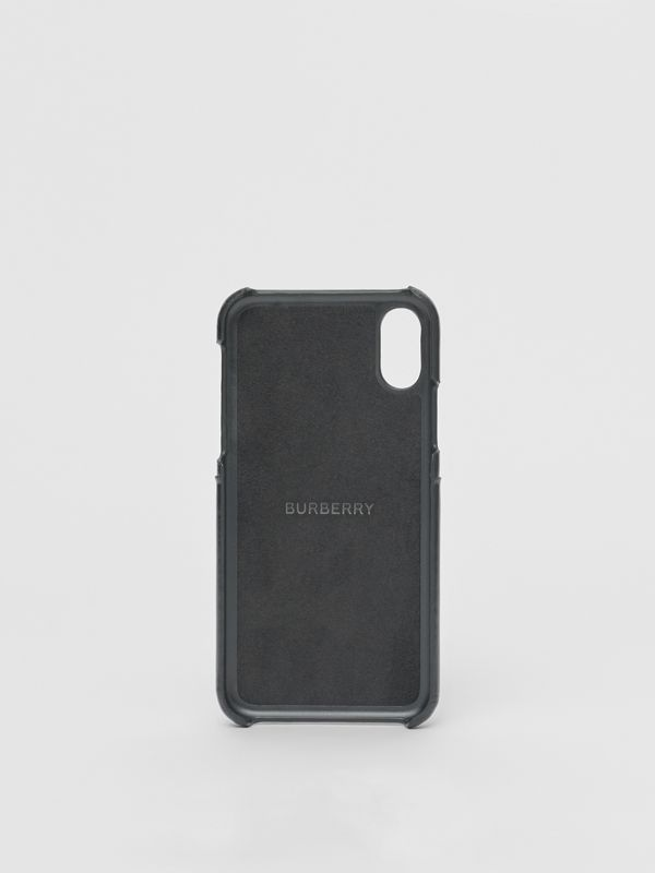 Logo Graphic Canvas iPhone X/XS Case in Black | Burberry - cell image 3