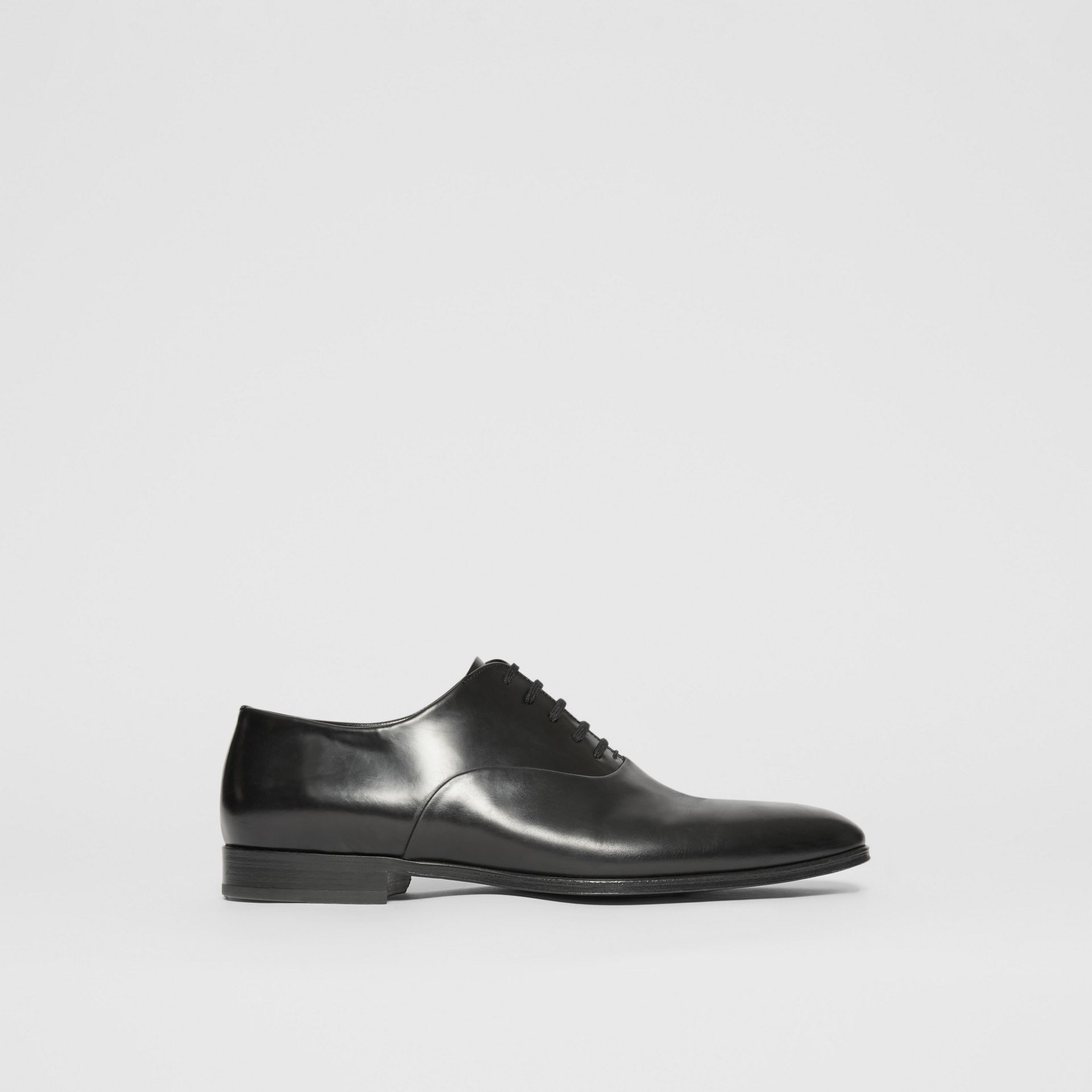 Leather Oxford Shoes in Black - Men | Burberry United Kingdom - gallery image 4