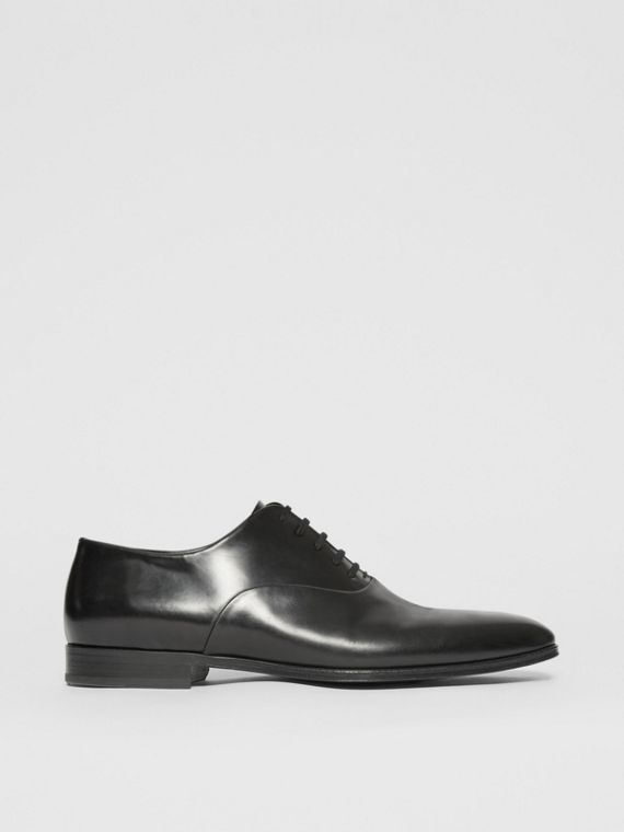 Leather Oxford Shoes in Black