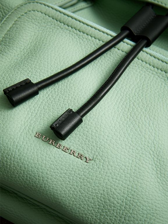 The Medium Rucksack in Deerskin with Resin Chain in Spearmint - Women | Burberry - cell image 1