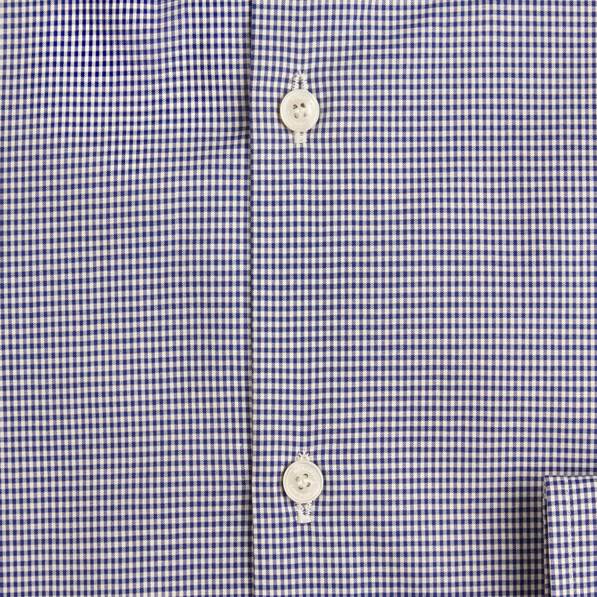 Dark empire blue Slim Fit Button-down Collar Gingham Cotton Poplin Shirt Dark Empire Blue - gallery image 2