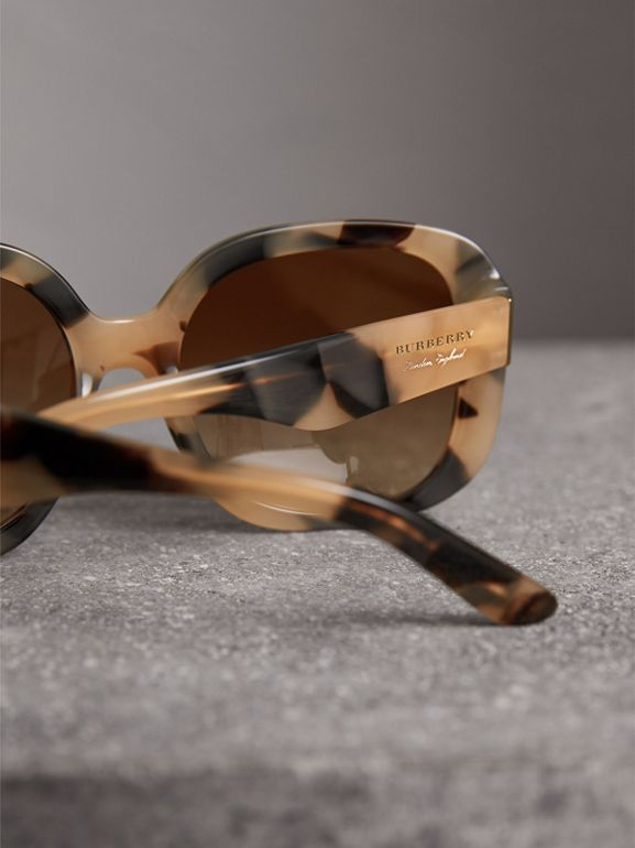 Square Frame Sunglasses in Honey - Women | Burberry - cell image 1