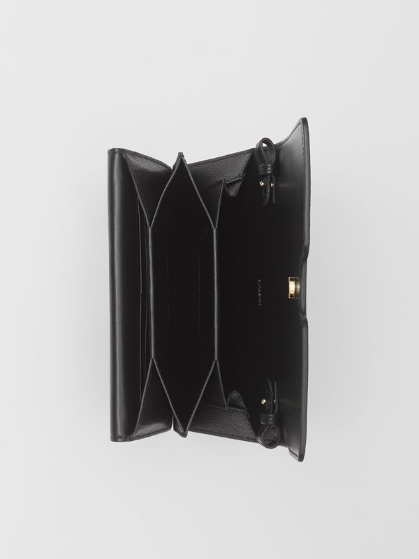 Small Grainy Leather Shoulder Bag in Black - Women | Burberry United Kingdom - cell image 3