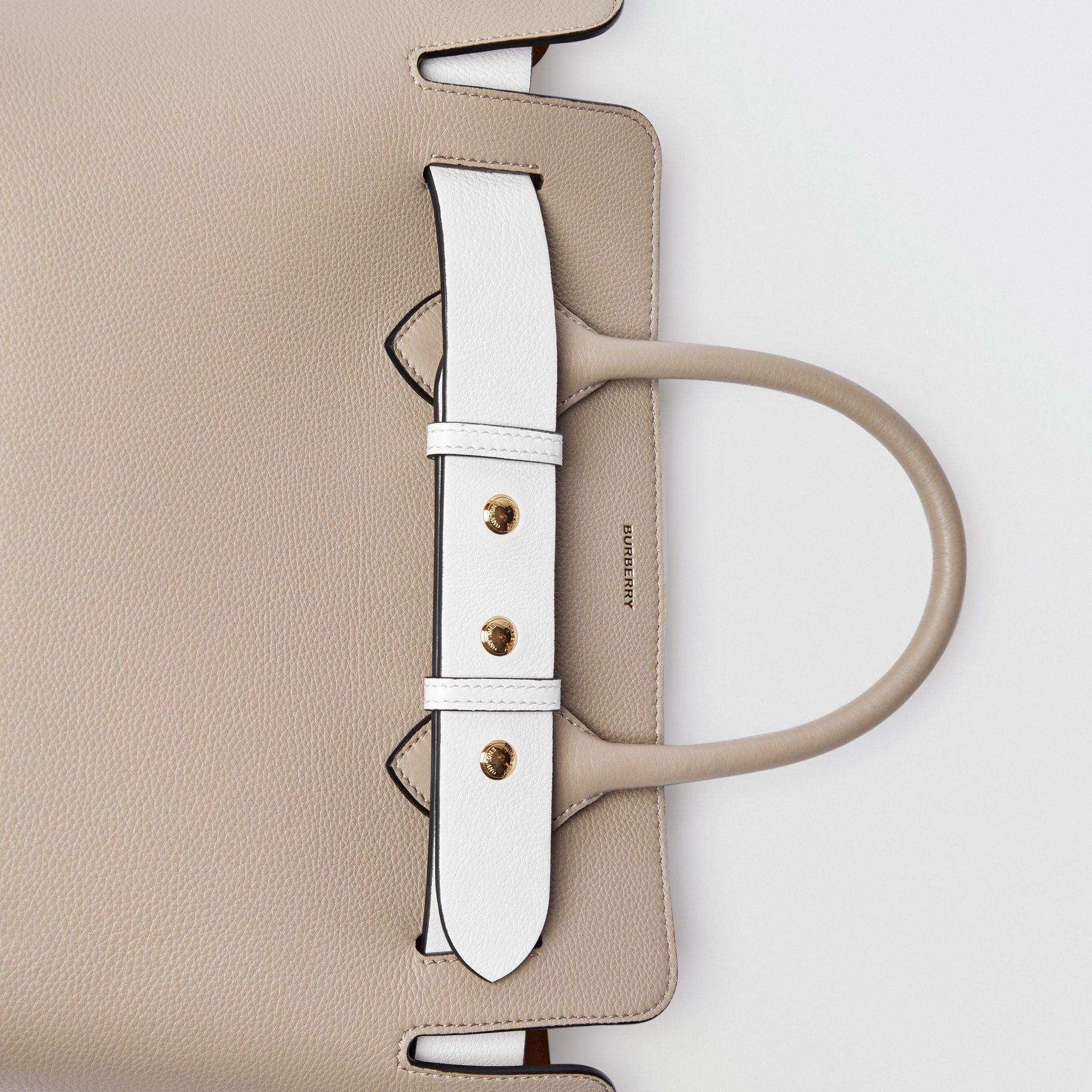 The Medium Tri-tone Leather Triple Stud Belt Bag in Mineral Grey - Women | Burberry - gallery image 1