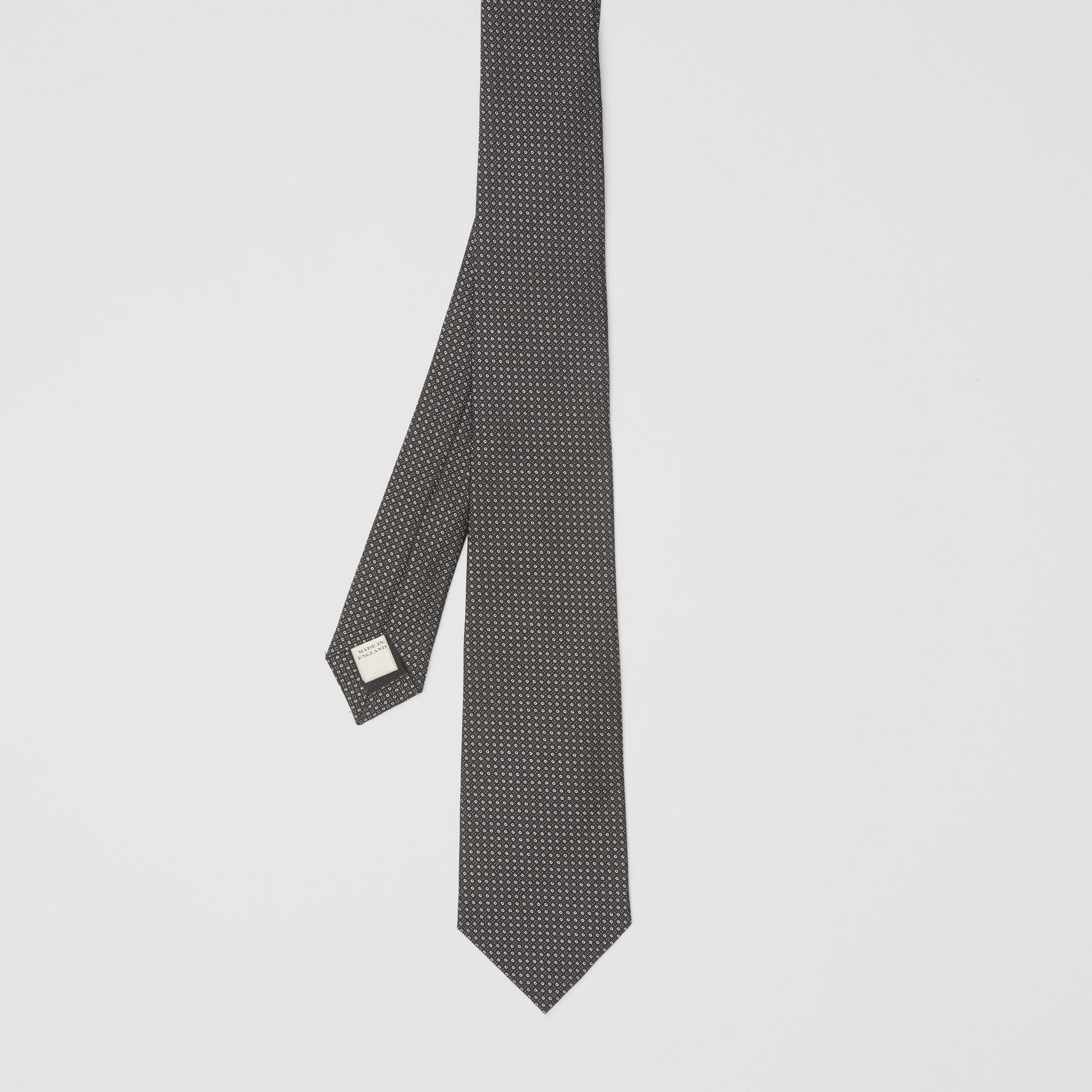 Classic Cut Micro Dot Silk Jacquard Tie in Black - Men | Burberry United Kingdom - gallery image 4