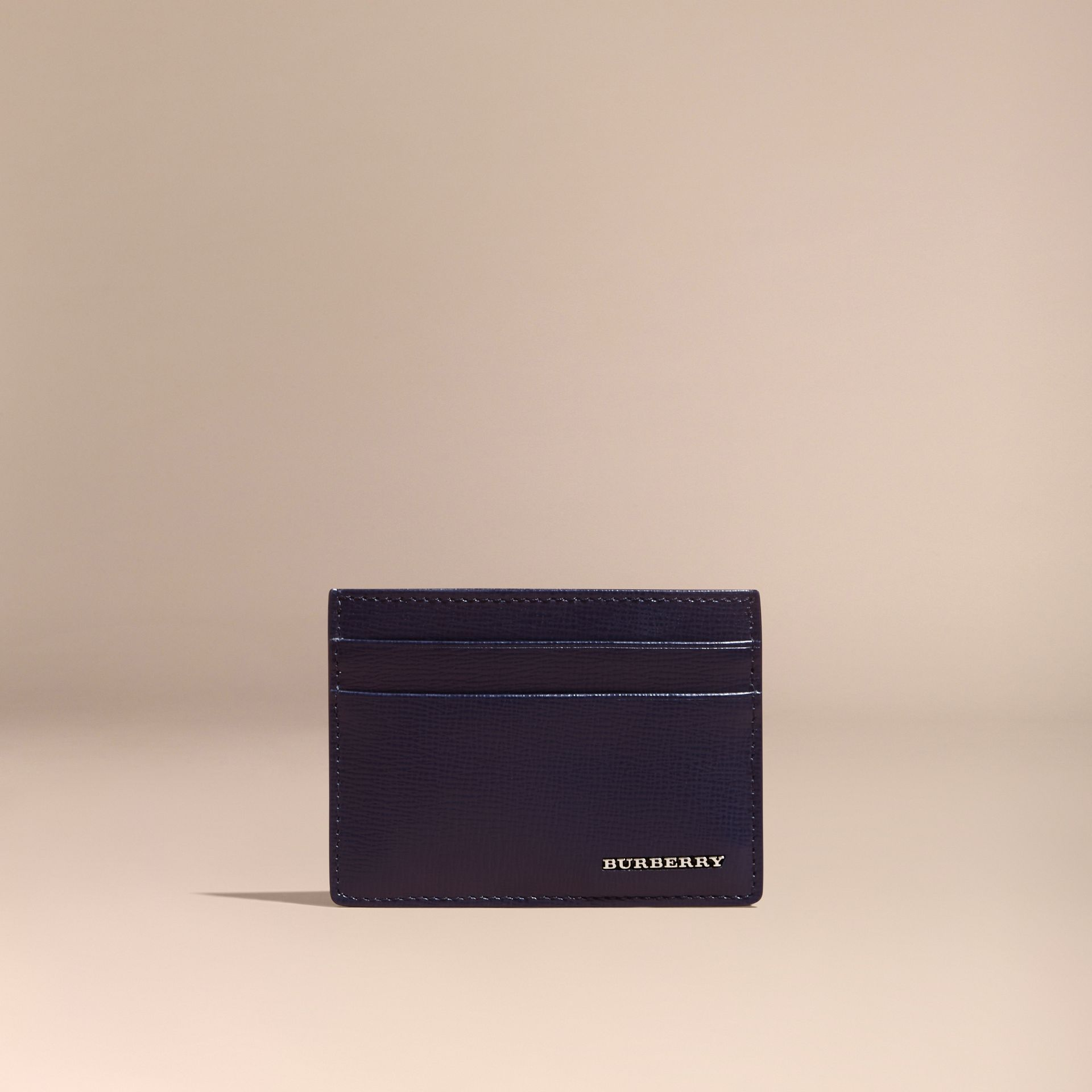 Navy scuro Porta carte di credito in pelle London Navy Scuro - immagine della galleria 6