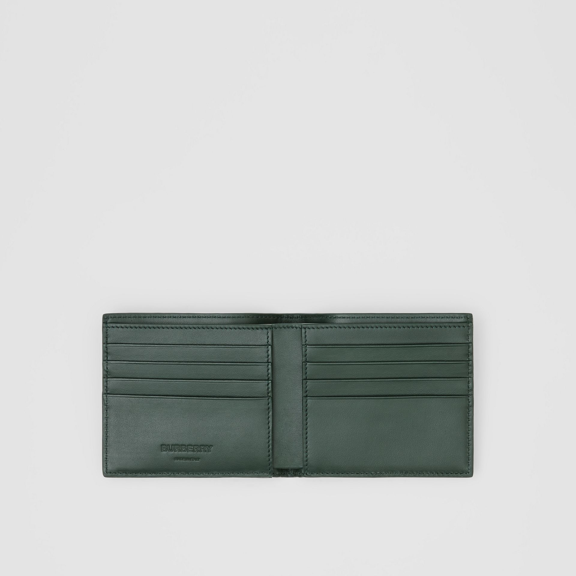 Monogram Leather International Bifold Wallet in Dark Pine Green - Men | Burberry - gallery image 2
