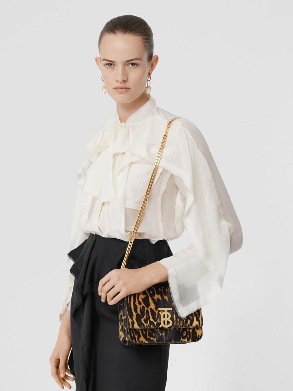 Small Leopard Print Calf Hair TB Bag in Dark Mustard - Women | Burberry Hong Kong S.A.R - cell image 2