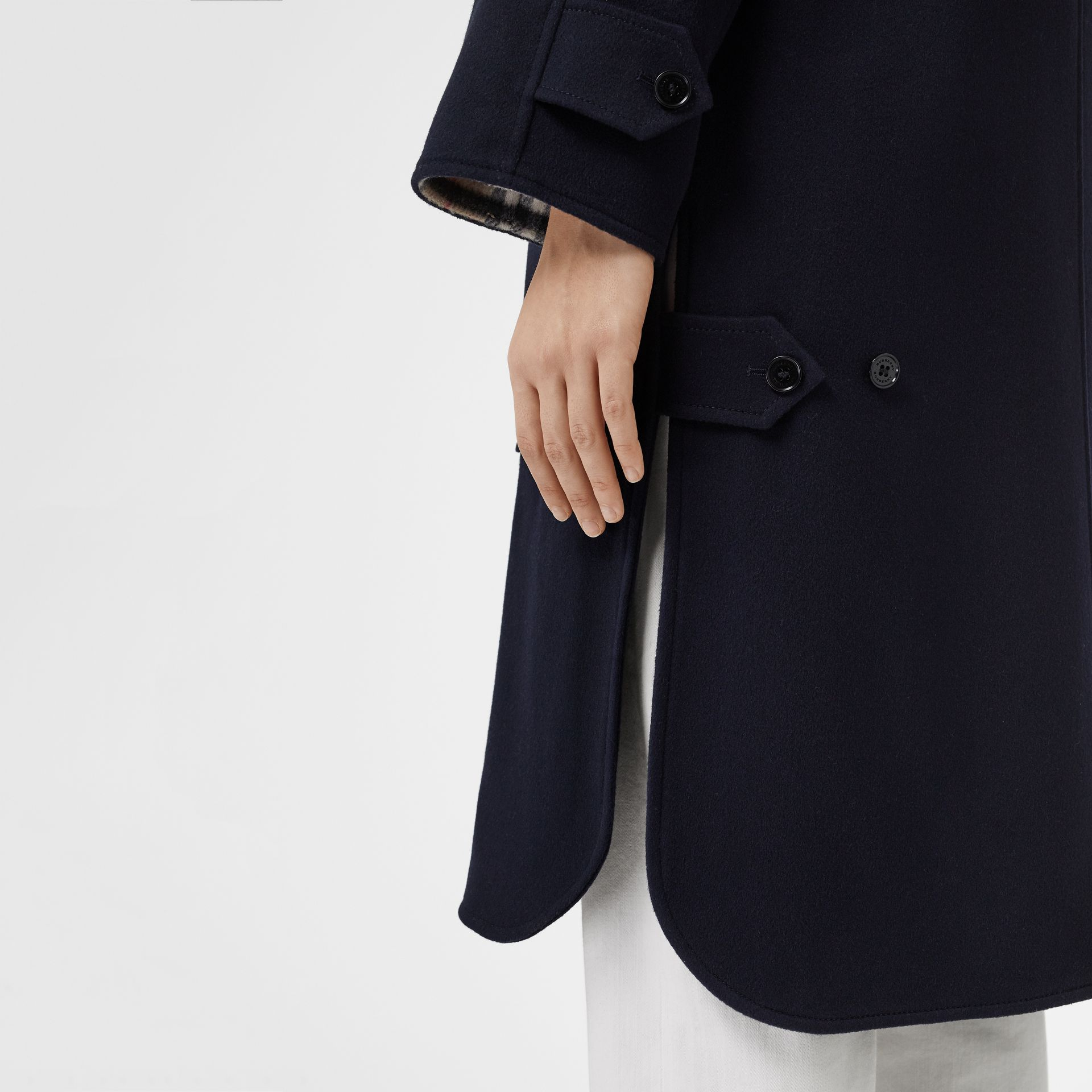 Cashmere Car Coat in Dark Ink Blue - Women | Burberry - gallery image 5