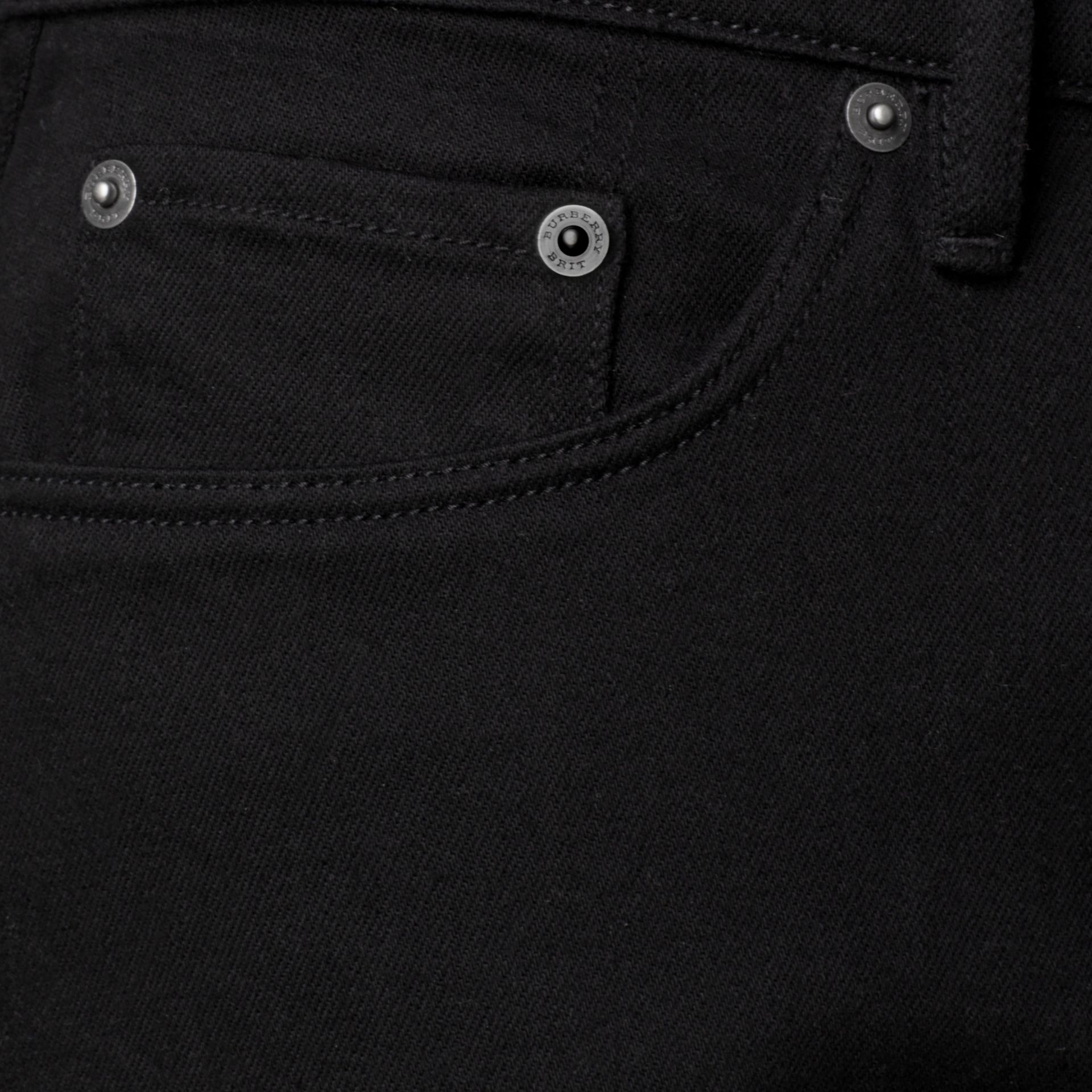 Slim Fit Deep Black Jeans - Men | Burberry - gallery image 2
