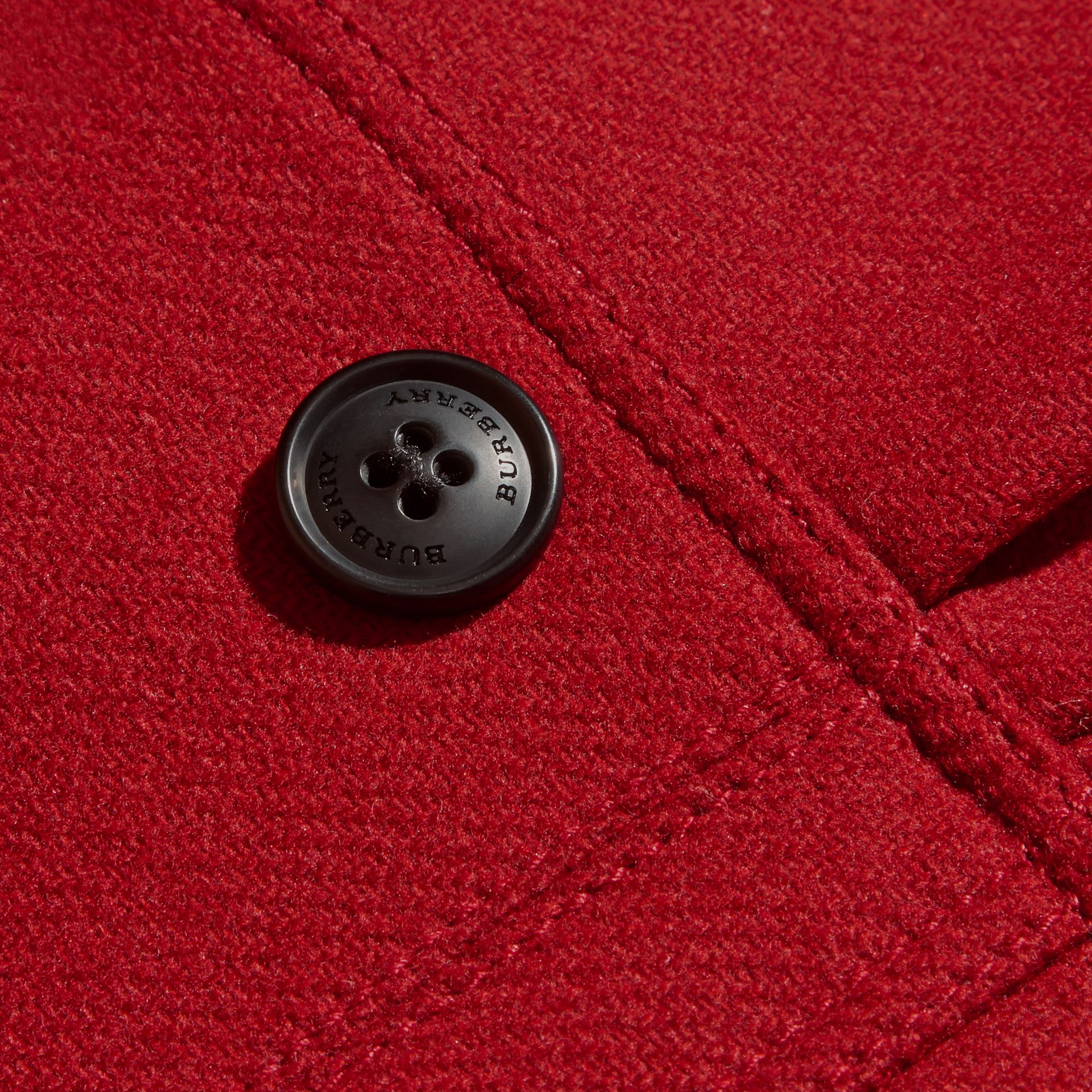 Damson red Tailored Wool Cashmere Blend Coat - gallery image 2