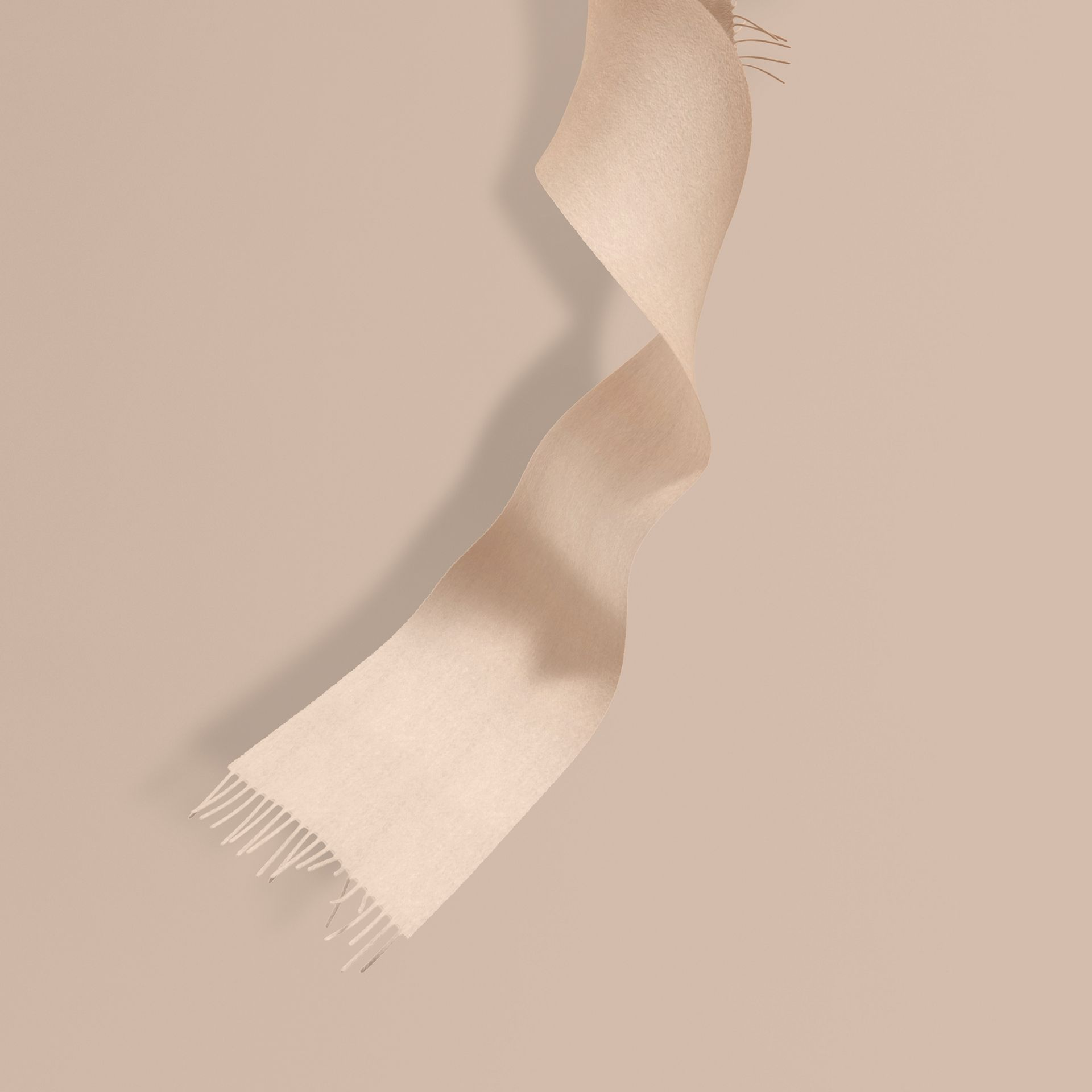 The Mini Classic Cashmere Scarf in Stone | Burberry - gallery image 1
