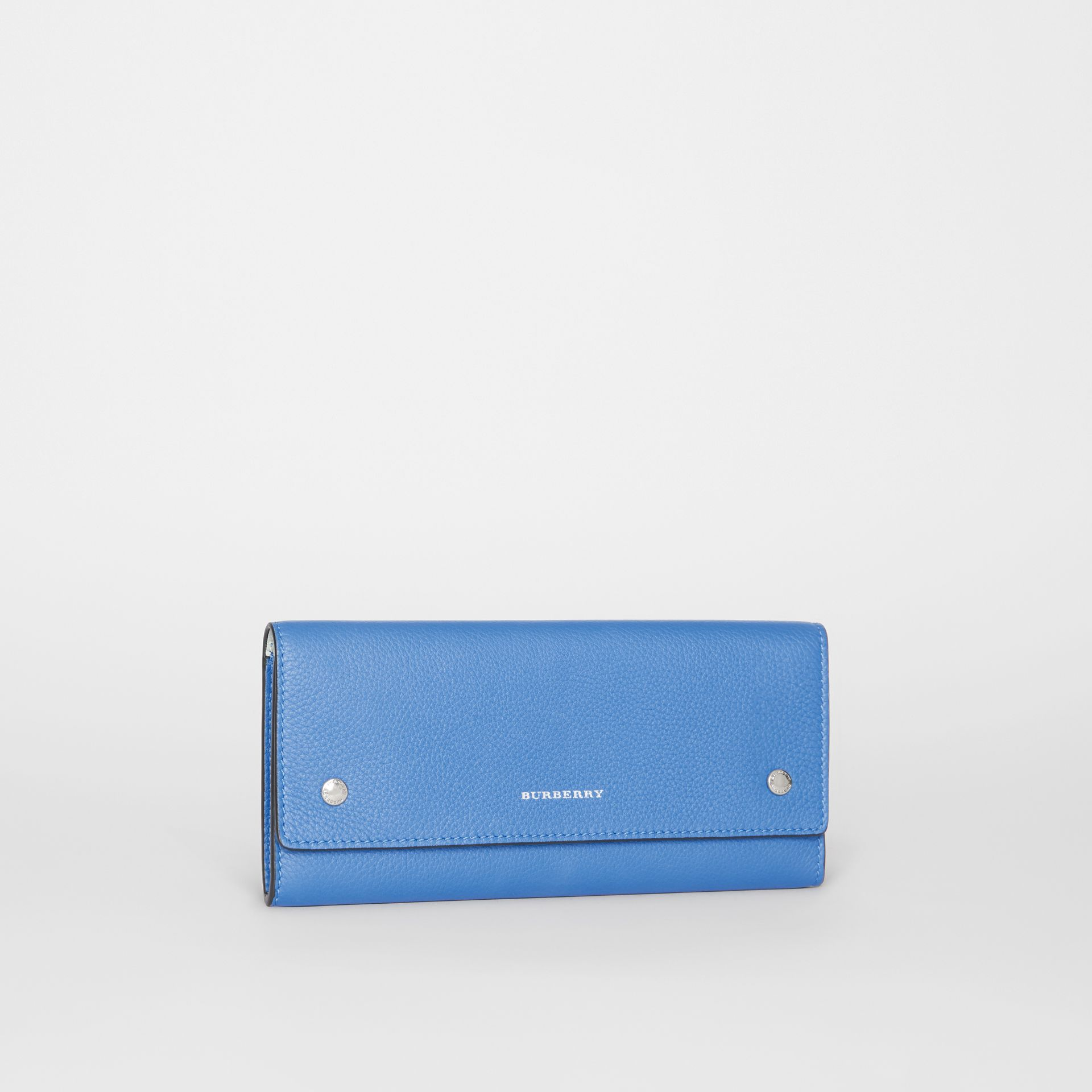 Leather Continental Wallet in Hydrangea Blue - Women | Burberry Australia - gallery image 4