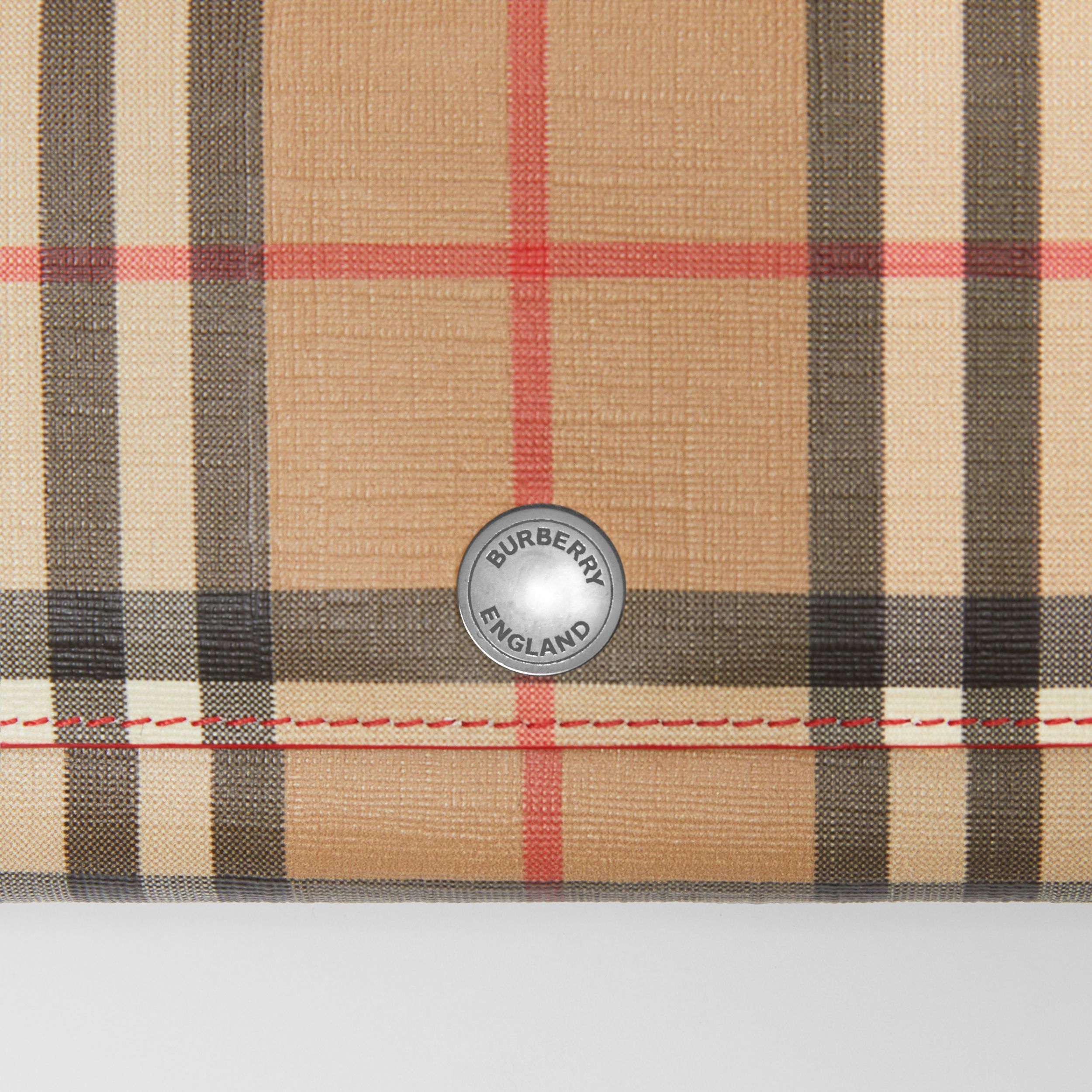 Vintage Check and Leather Continental Wallet in Bright Military Red - Women | Burberry - 2