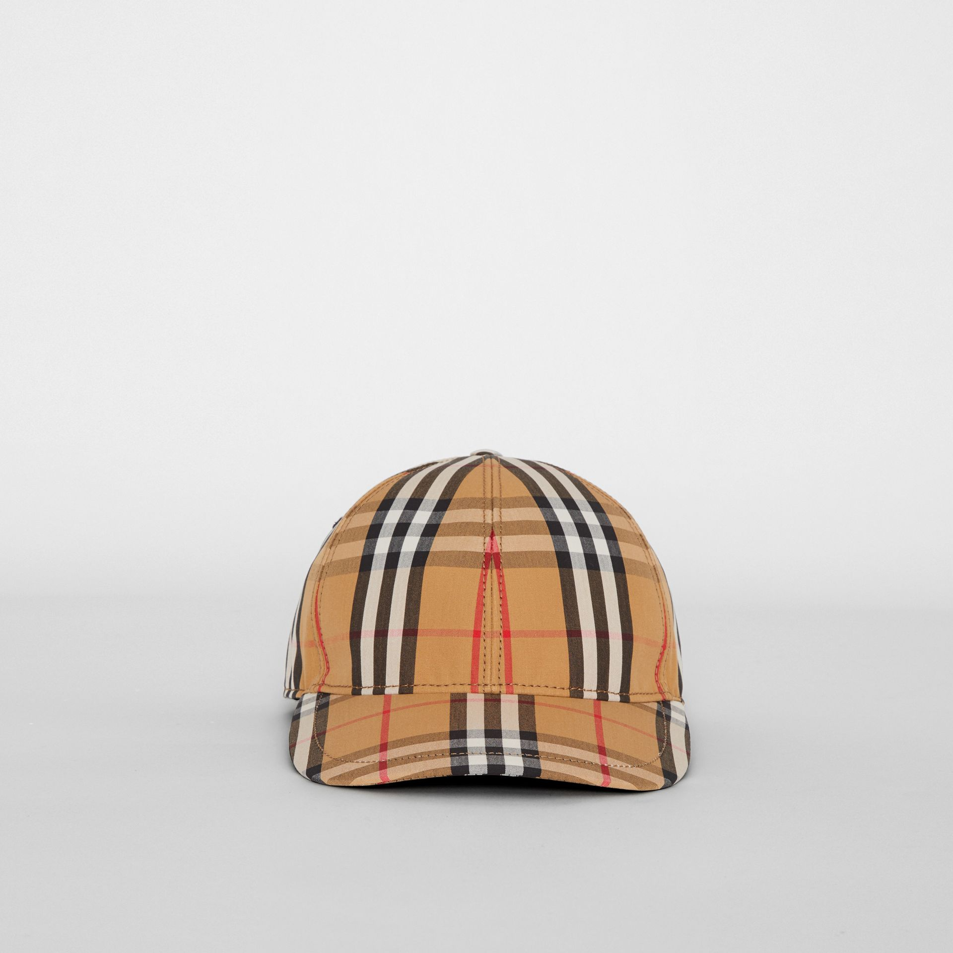 Vintage Check Baseball Cap in Antique Yellow | Burberry United Kingdom - gallery image 6