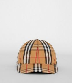 6914c9829a9 Vintage Check Baseball Cap in Antique Yellow