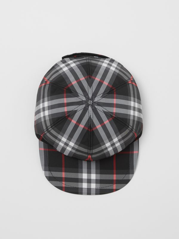 Check Baseball Cap in Black - Children | Burberry - cell image 2