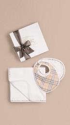 Set cadeau trois pièces en coton pour bébé