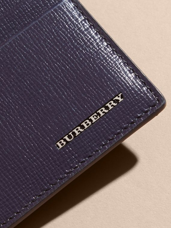London Leather Card Case in Dark Navy | Burberry - cell image 3