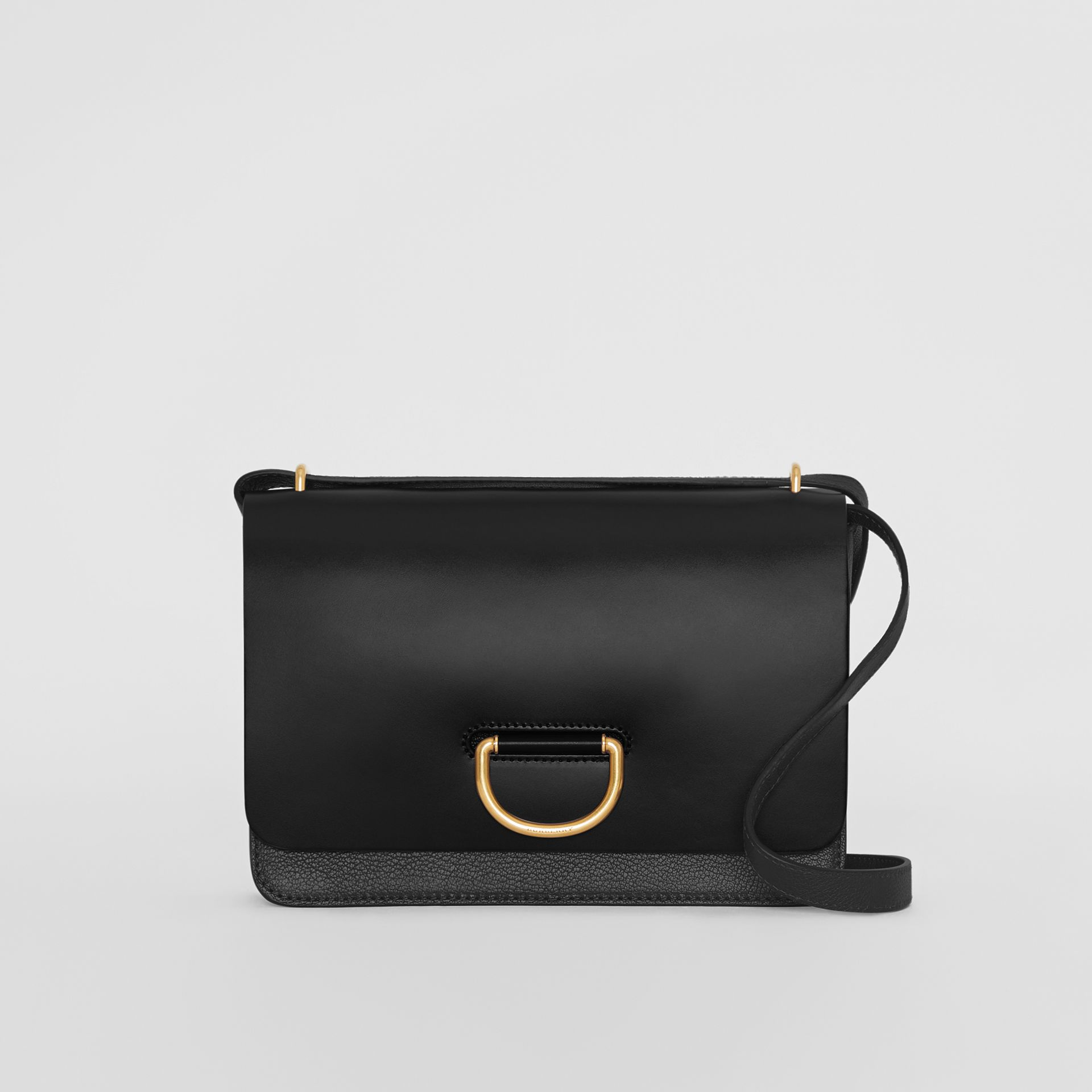 The Medium Leather D-ring Bag in Black - Women | Burberry - gallery image 0