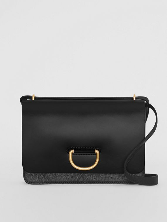 Sac The D-ring moyen en cuir (Noir)