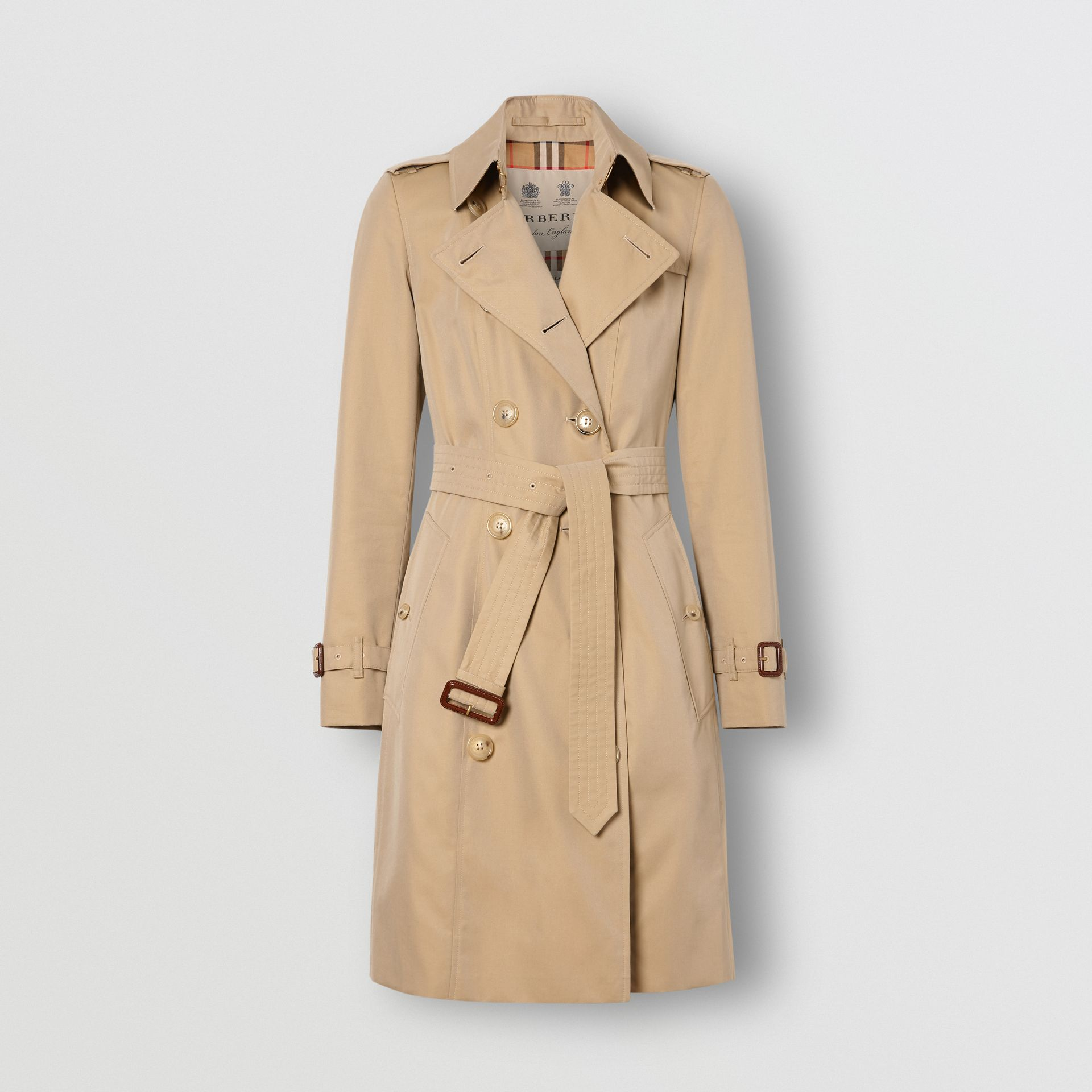 The Mid-length Chelsea Heritage Trench Coat in Honey | Burberry Canada - gallery image 8