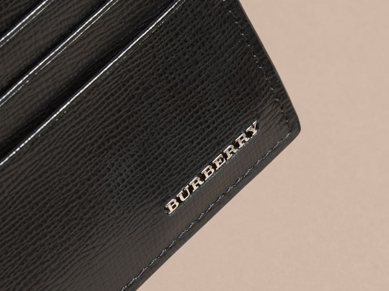 Black London Leather Zip-top Card Case Black - cell image 1
