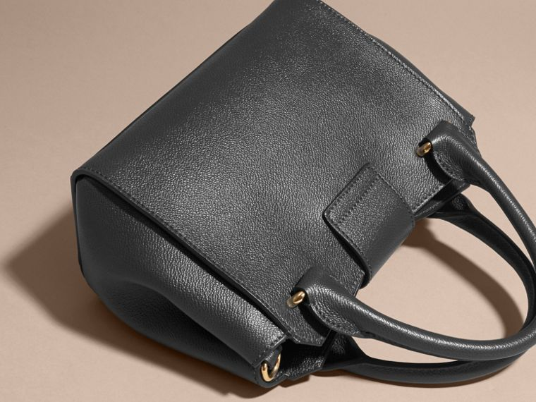 The Small Buckle Tote in Grainy Leather Black - cell image 4
