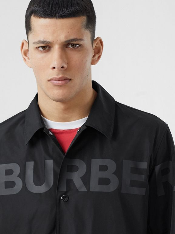 Detachable Hood Shape-memory Taffeta Jacket in Black - Men | Burberry - cell image 1