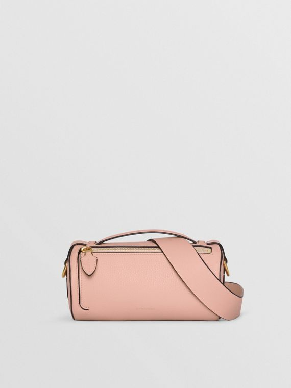 Sac The Barrel en cuir (Rose Platiné)