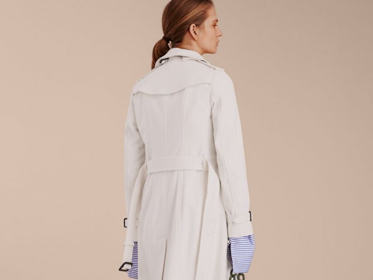 White Sandringham Fit Cashmere Trench Coat White - cell image 1