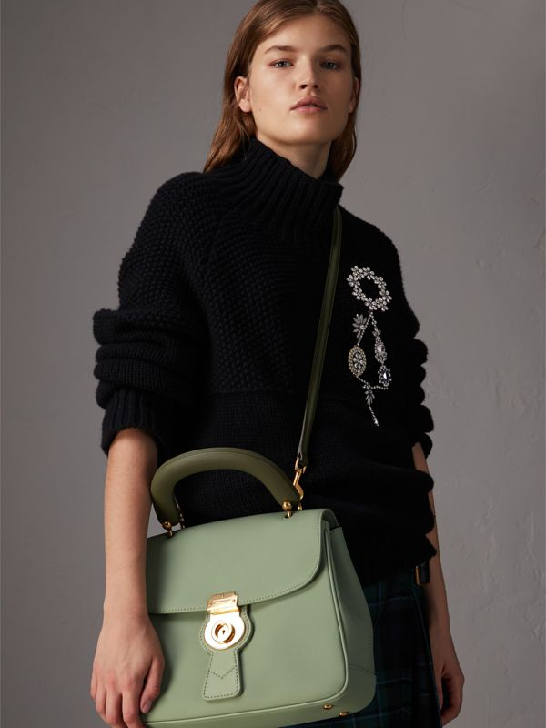 The Medium DK88 Top Handle Bag in Celadon Green - Women | Burberry United Kingdom - cell image 3