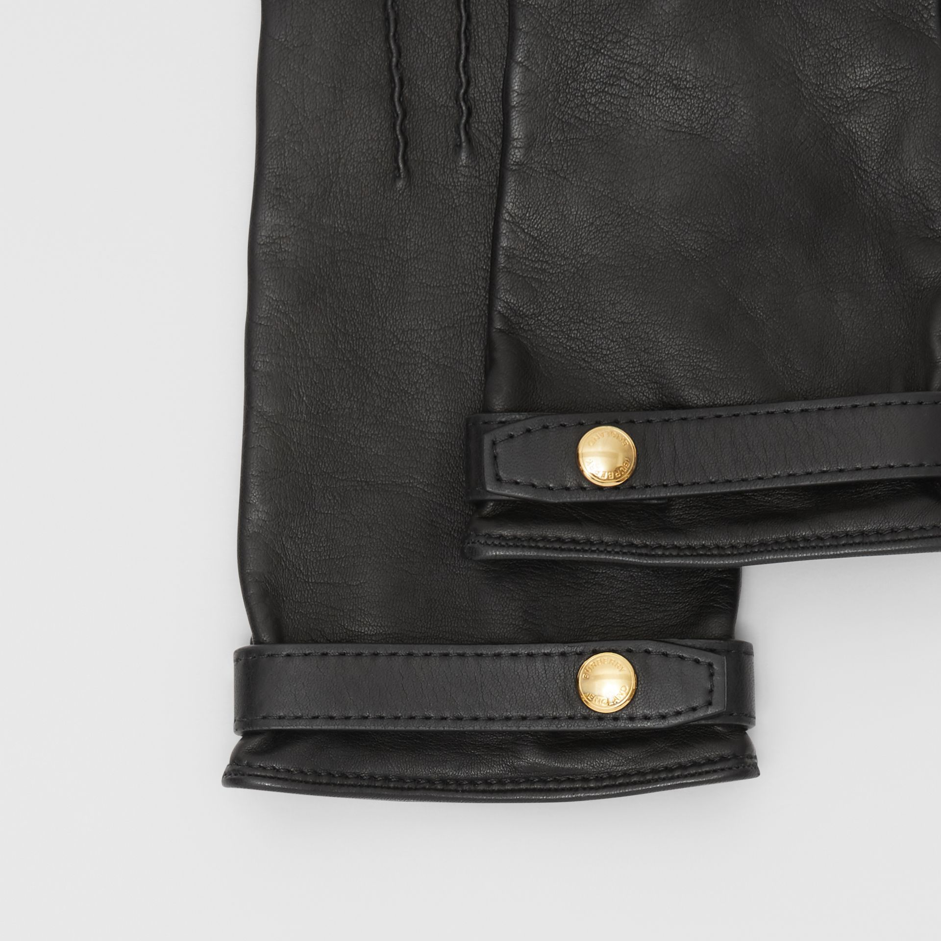 Silk-lined Lambskin Gloves in Black - Women | Burberry - gallery image 1