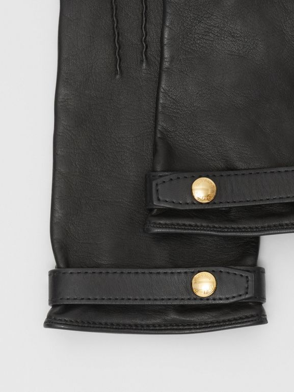 Silk-lined Lambskin Gloves in Black - Women | Burberry - cell image 1