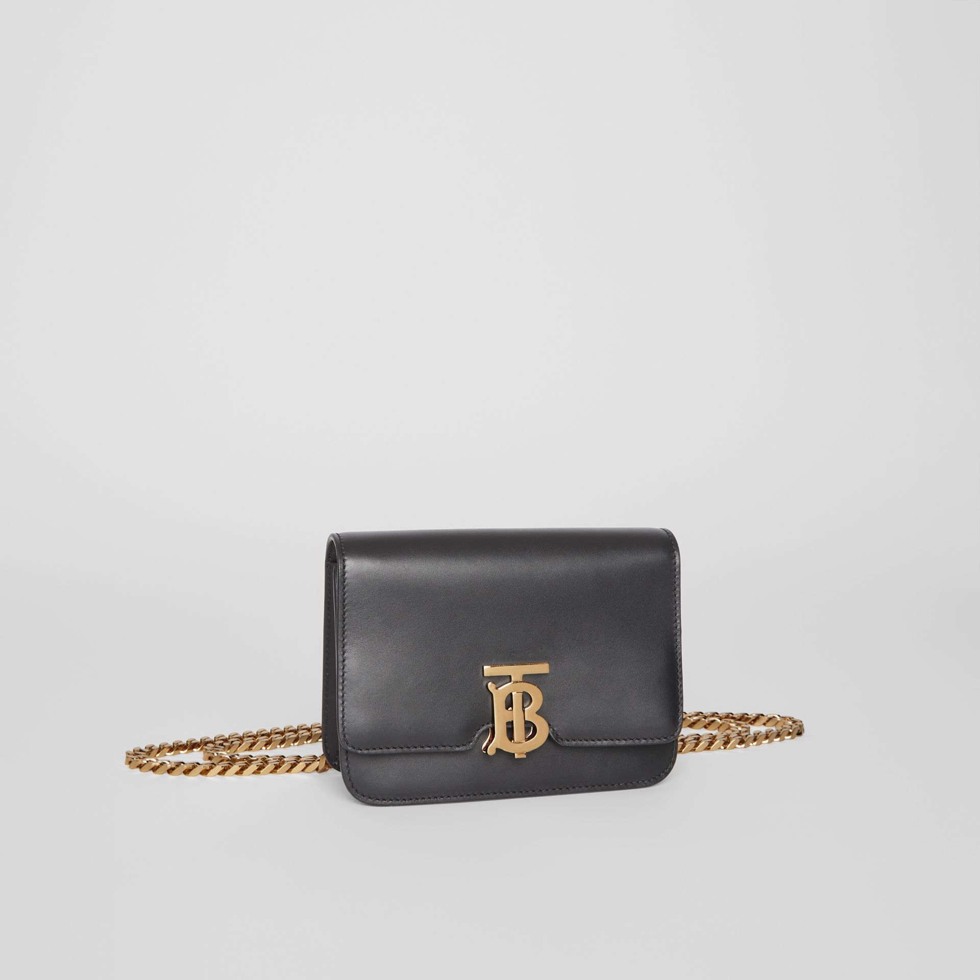 Belted Leather TB Bag in Black - Women | Burberry - gallery image 6
